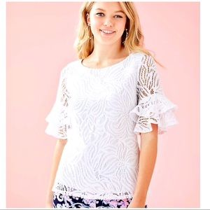 NEW Lilly Pulitzer Size M Lula Lace Top